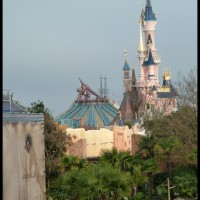 Space Mountain 2 & Sleeping Beauty's Castle in Disneyland Paris...again