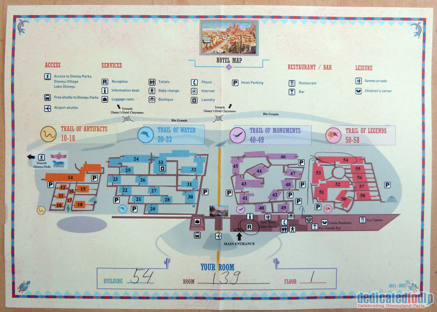 disneyland paris hotel santa fe map