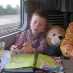 Sam & Duffy on the Eurostar