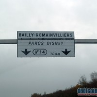 Disneyland Paris Road Sign