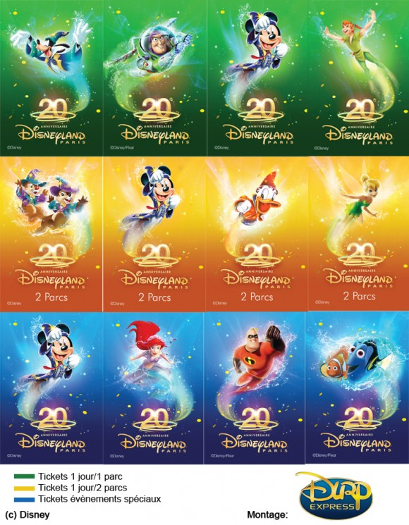 Disneyland Paris 20th Anniversary Ticket Pictures