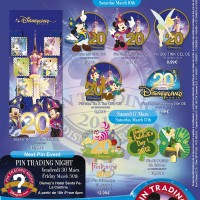 Disneyland Paris Pins for March 2012