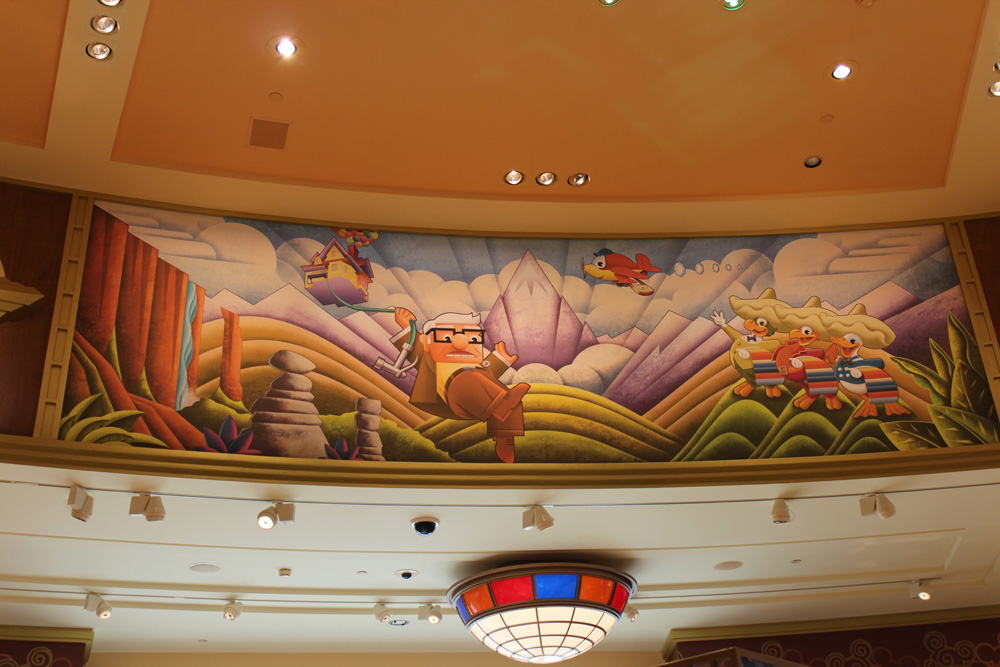 Dedicated to dlp celebrating disneyland paris world of for Disneyland mural