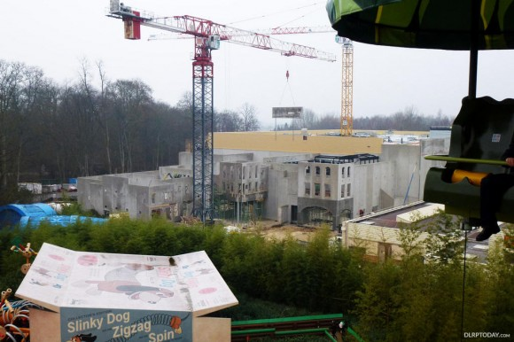 Ratatouille Construction in Disneyland Paris (Photo from DLRPToday.com)