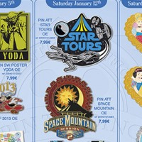Disneyland Paris Pins for January 2013 – Sith, Jedi, Princesses & Pumpkins