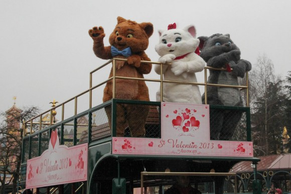 Valentine's Day 2013 in Disneyland Paris - Aristocats Toulouse, Marie & Berlioz