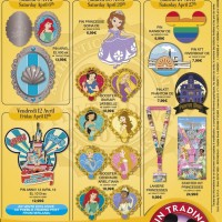 Disneyland Paris Pins for April 2013
