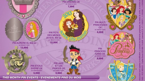 Disneyland Paris Pins for May 2013 – Even More Princesses, Dreams!, a Pirates, a Fish & a Sherif