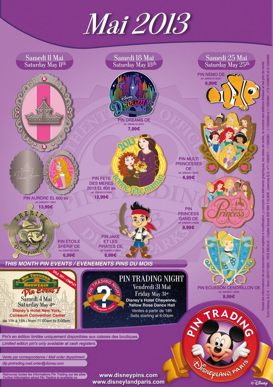 Disneyland paris pins for may 2013 – even more princesses dreams