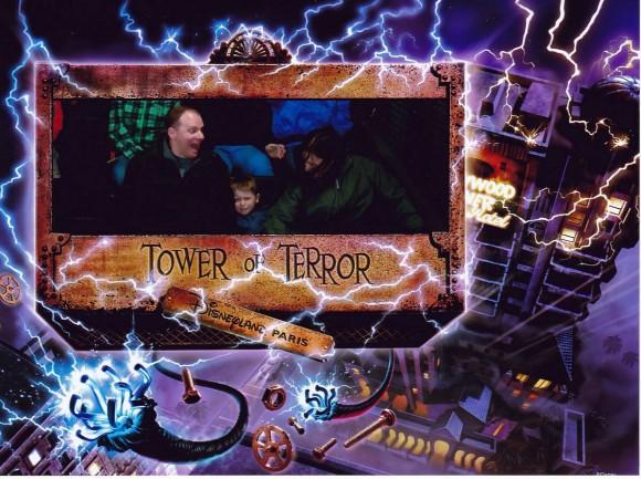 Tower of Terror Photo Using Disney PhotoPass in Disneyland Paris