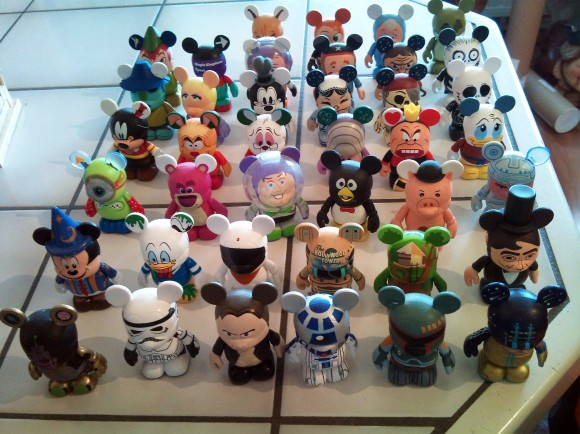 Some of the Vinylmations in Danny's Collection
