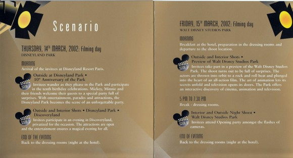 Disneyland Paris Walt Disney Studios Grand Opening Booklet
