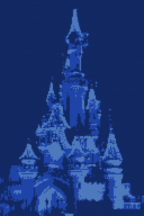 Sleeping Beauty Castle in Disneyland Paris LEGO Style, using Mosaic Maker