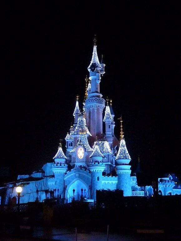Sleeping Beauty Castle in Disneyland Paris, Christmas 2012