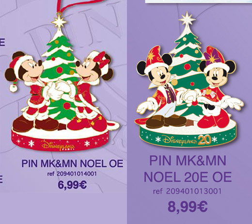 Disneyland Paris Christmas Pins