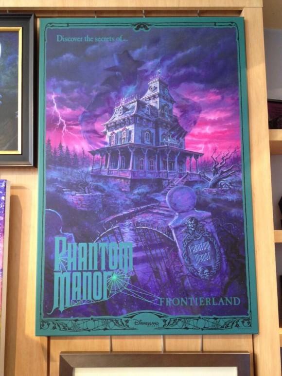 Phantom Manor Canvas from The Art of Disney on Demand in Disneyland Paris
