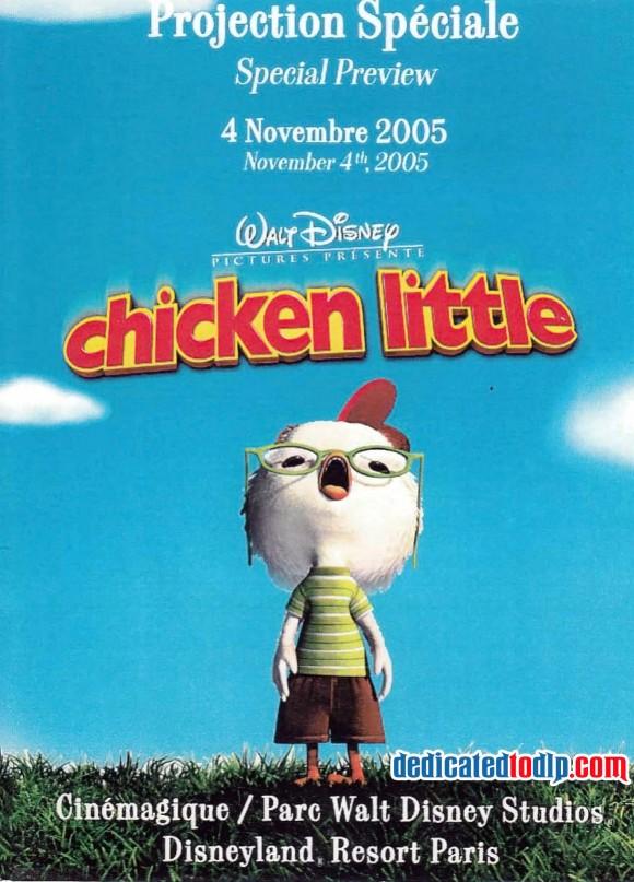 Chicken Little Special Preview in Cinemagique, Disneyland Paris