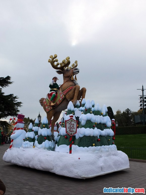 Elf on Reindeer in the Christmas Cavalcade in Disneyland Paris