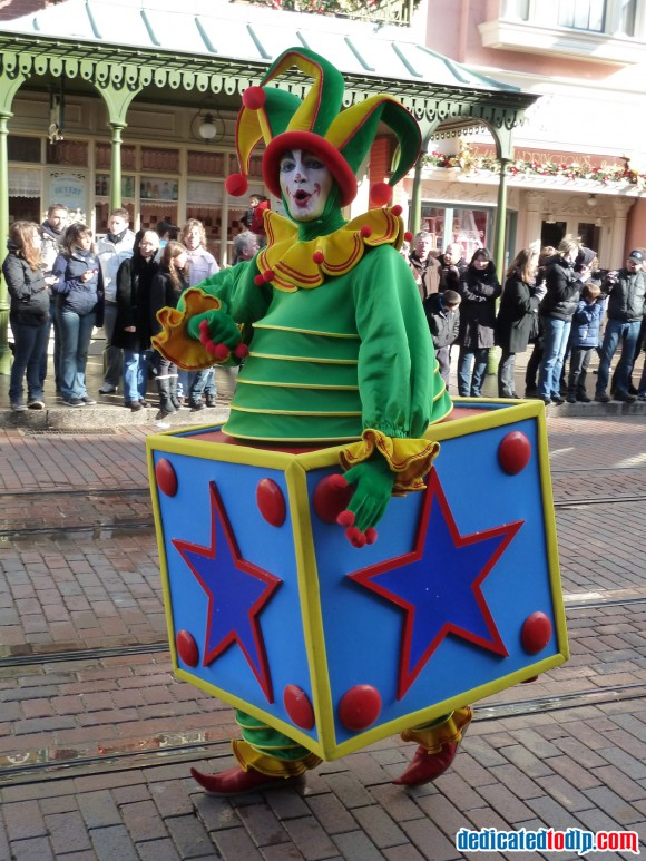 Jack in a Box in the Christmas Cavalcade in Disneyland Paris
