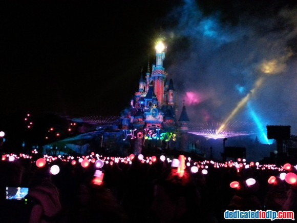 Finale of Disney Dreams! of Christmas in Disneyland Paris