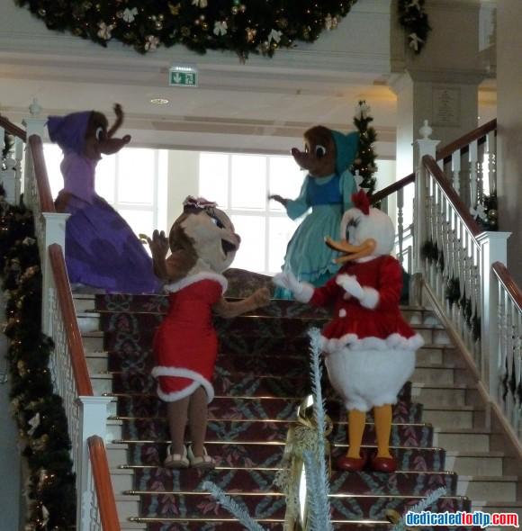 The Decent of the Stairs in Disneyland Hotel, Disneyland Paris