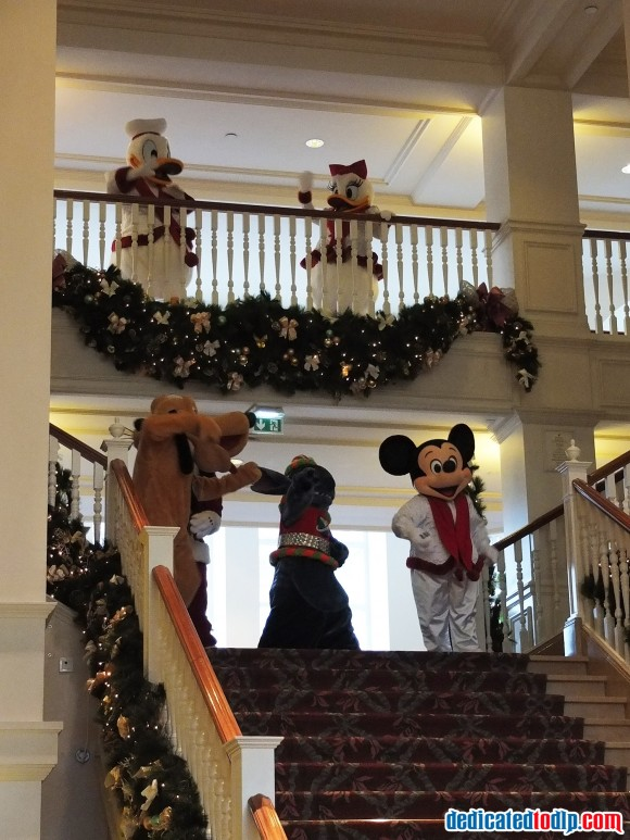 The Decent of the Stairs in Disneyland Hotel, Disneyland Paris