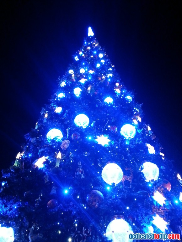 New Christmas Tree At Night in Disneyland Paris For 2013