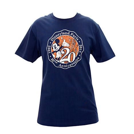 Disneyland Paris 20th Adults Signature Navy T-shirt