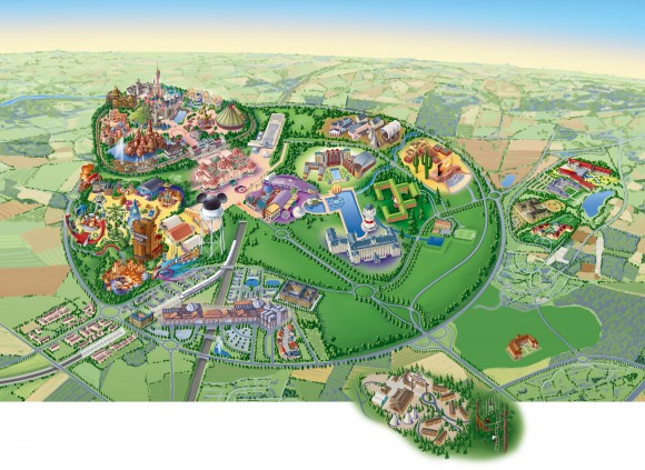 Disneyland Paris Resort Map With Ratatouille The Adventure