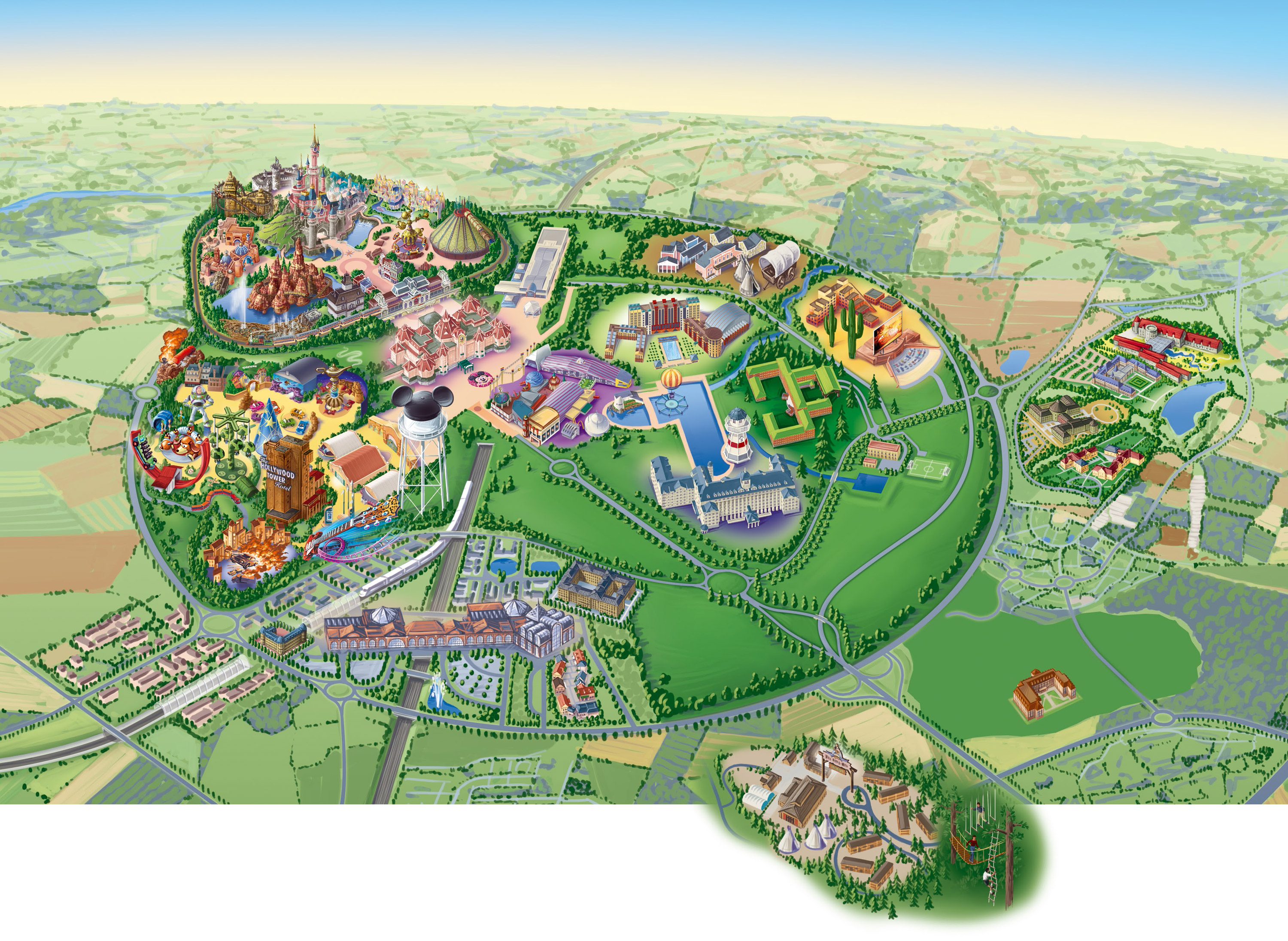Disneyland Paris Map 2014