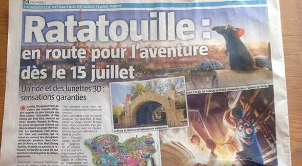 Disneyland Paris Rumour: Ratatouille The Ride To Open On July 15th 2014