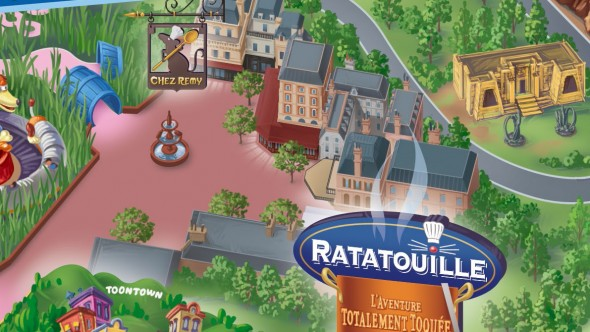 Ratatouille Area on the QWalt Disney Studios Map, Disneyland Paris