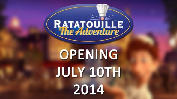 Disneyland Paris News: Ratatouille The Adventure Will Open on July 10th 2014