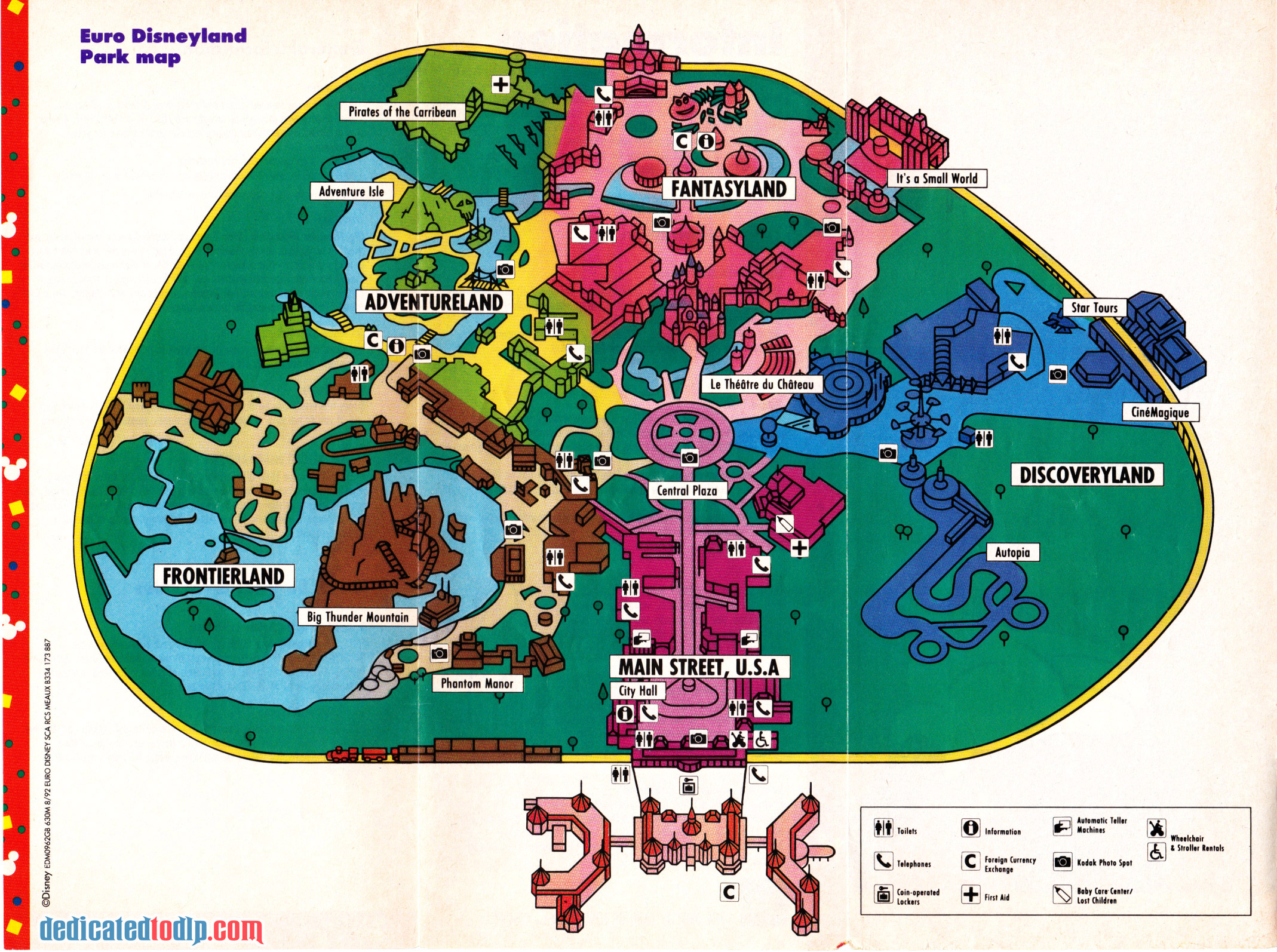 Dedicated To DLP Celebrating Disneyland Paris Disneyland Paris - Paris map 2016