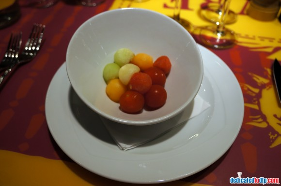 Ratatouille: The Adventure Fan Event.  Bistrot Chez Rémy Melon Balls & Tomatoes