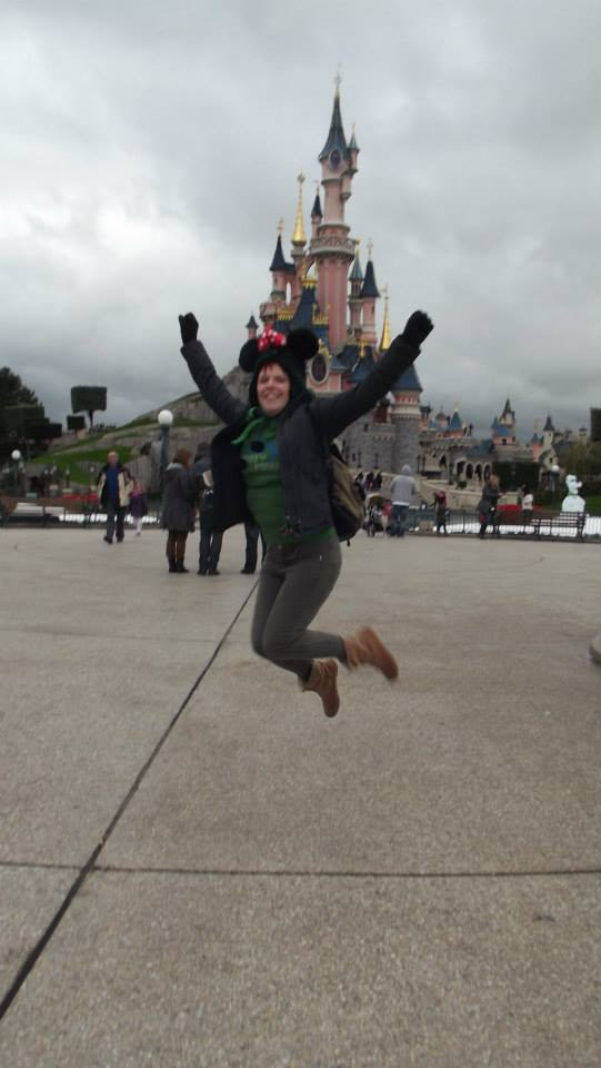 Kirsty Beckwith in Disneyland Paris