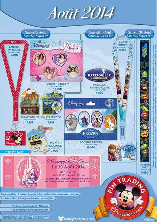 Disneyland Paris Pins for August 2014
