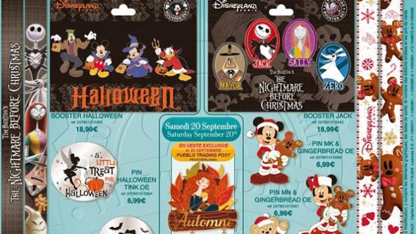 Disneyland Paris Pins for September 2014 - Halloween, Christmas, Autumn & Nightmare Before Christmas