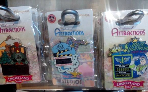 Disneyland Paris Attraction Pins for August 2014