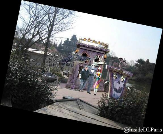 Disneyland Paris News: Halloween 2014 Jack & Sally Photo Location