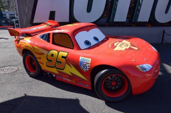 Lightning McQueen Out For Photos in Disneyland Paris