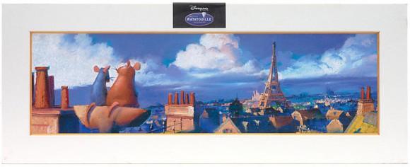 Disneyland Paris Merchandise: Ratatouille Limited Edition Print Available on Disney Store Website