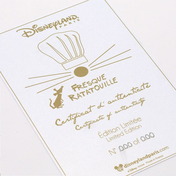 Disneyland Paris Merchandise: Ratatouille Limited Edition Print Certificate of Authenticity