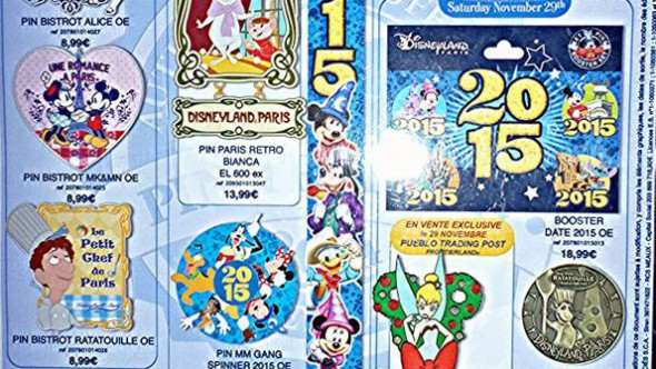 Disneyland Paris Pins for November 2014 – A New Year is Coming