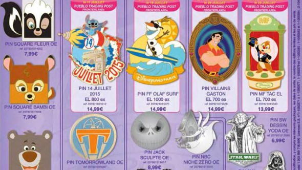 Disneyland Paris Pins for July 2015 – Star Wars, Stitch, Squares and Nightmare Before Christmas?
