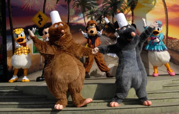 Ratatouille on Place des Stars Stage in Walt Disney Studios, Disneyland Paris