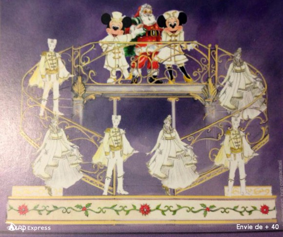 Disneyland Paris News: Christmas Tree Lighting Ceremony Float Concept Art