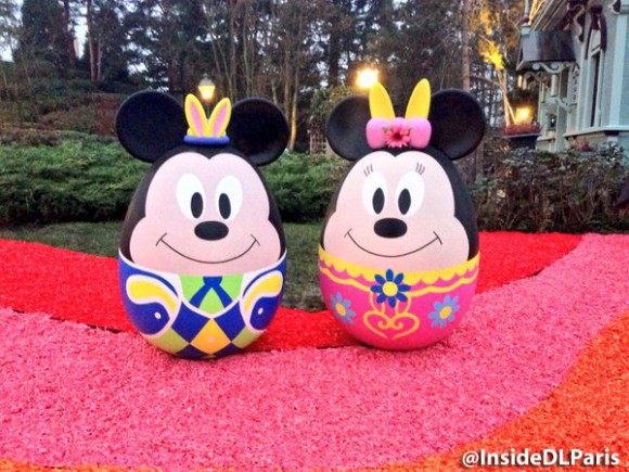 Disneyland Paris Spring 2016 decorations - character eggs