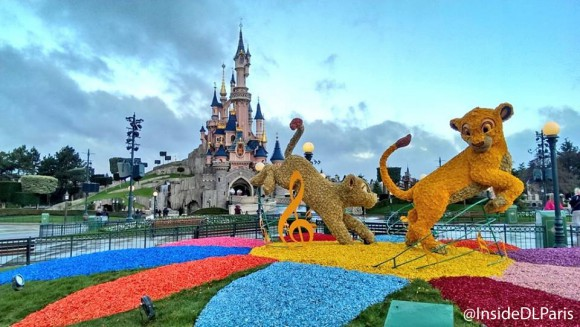 Spring Topiaries in Disneyland Paris
