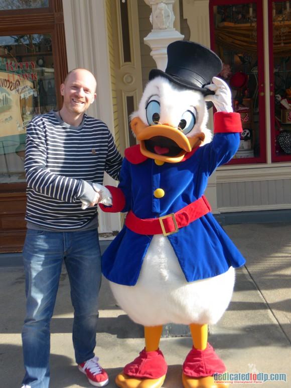Meeeting Scrooge McDuck in Disneyland Paris